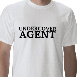 undercover agent t shirt